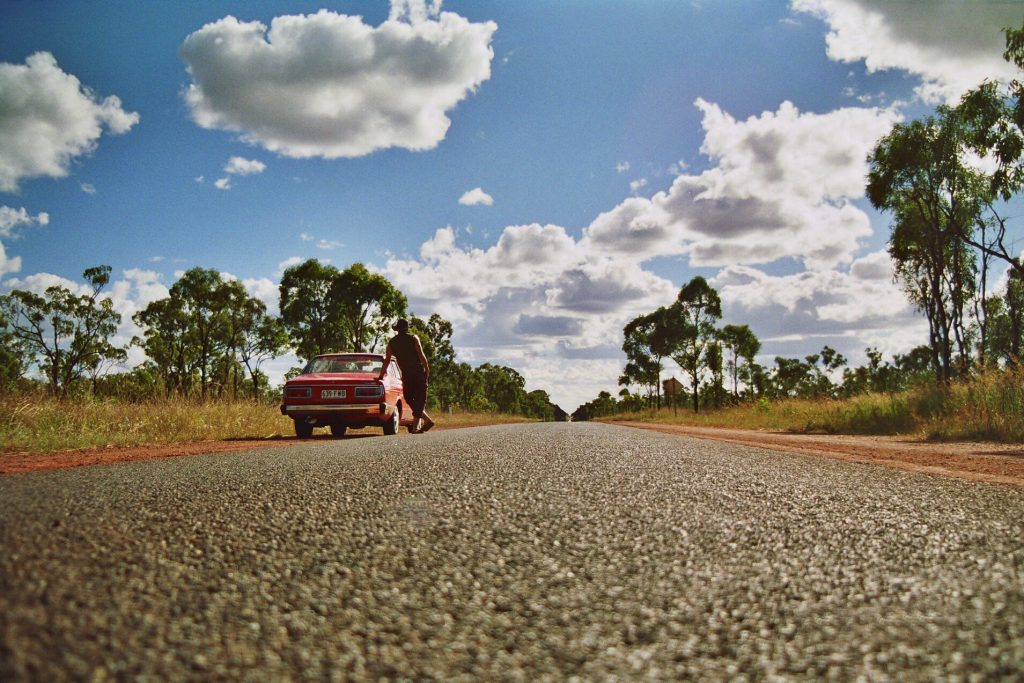 open-road-happy traveller road trip
