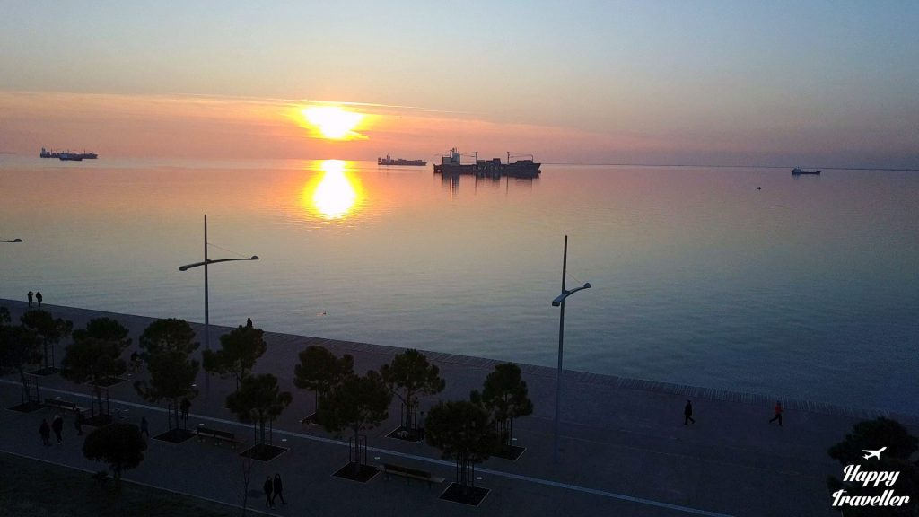 sunset-thessaloniki-drone