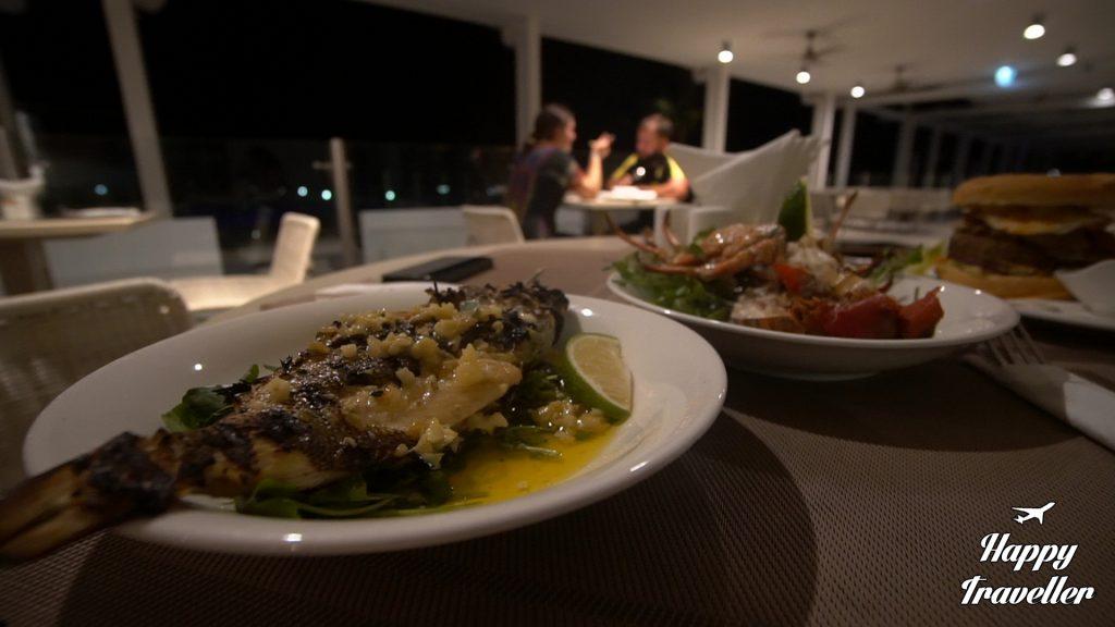Βραδινό με ψάρι στο ξενοδοχείο μας στη Σαμόα, Taumesina Island Resort